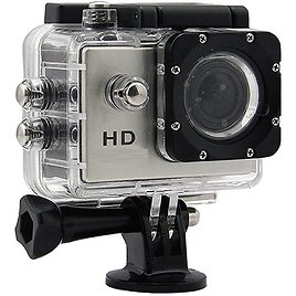 """GoCam 720p HD Waterproof Sports and Action Video Camera with 2"""" LCD and Wide Angle View"""