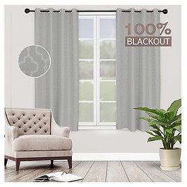 Homexperts Room Darkening Curtains, Blackout Energy Efficient Thermal Insulated Window Curtains for Bedroom, Living Room, with G