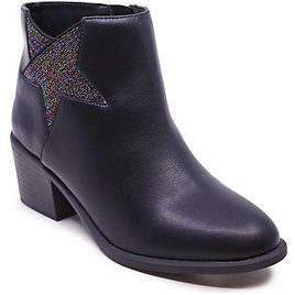 Youth Girls Sage Glitter Star Booties