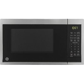GE 0.9 Cu. Ft. Microwave Stainless Steel – Scan-to-Cook Technology – Amazon Alexa Compatible Stainless Steel JES1097SMSS