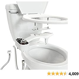 Clear Rear - The Buttler Bidet Toilet Attachment (1-Pack) Easy Setup Non-Electric Mechanical Bidet Sprayer, Self-Cleaning Nozzle & Adjustable Pressure