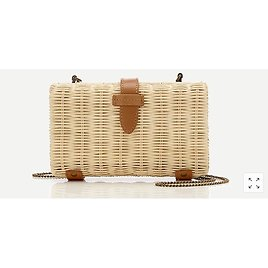 Rattan Clutch with Chain Strap