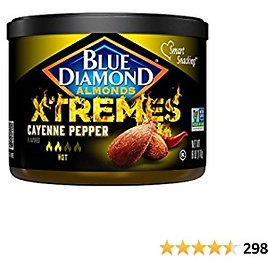 Blue Diamond Almonds, XTREMES Flavored, Cayenne Pepper, 6 Ounce