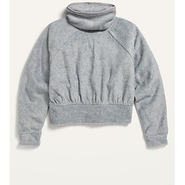 Funnel-Neck Micro Performance Fleece Pullover for Girls | Old Navy