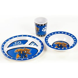 NCAA Melamine 3 Piece Place Setting, Service for 1