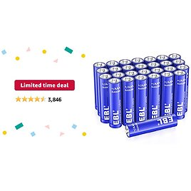 Limited-time Deal: EBL AAA Alkaline Batteries - Triple A 1.5V Single Use Battery (28 Count)