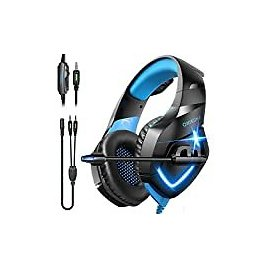 Gaming Headset Xbox One Headset with Stereo Surround Sound,PS4 Gaming Headset with Mic & LED Light Noise Cancelling Over Ear Headphones Compatible with PC, PS4,PS5, Xbox One,Mac: Electronics