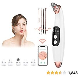 Blackhead Remover Vacuum Pore Cleaner with Camera -AMZGIRL Beauty Device with 3 Adjustable Suction Power and 5 Replacement Probes USB Rechargeable