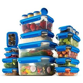 40-Piece Airtight Food Storage Containers Set With Lids 100% Leak Proof