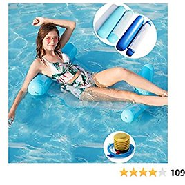 2 Pack Inflatable Pool Floats Water Hammock for Adults Kids 4-in-1 Pool Float Portable Multi-Purpose Swimming Hammock Lounger Inflatable Raft with Air Pump
