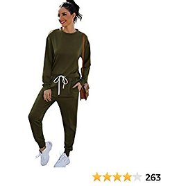KENMAX Lounge Sets for Women 2 Piece Sweatsuit Loungewear Sets Long Sleeve Pullover Tops and Sweatpants Outfits