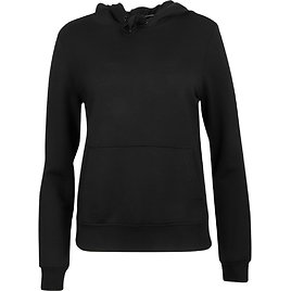 90 Degree By Reflex Women's Terry Brushed Solid Long Sleeve Hoodie Pullover With Kangaroo Pocket