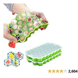 Ice Cubes Silicone 2 Pack,Silicone Mini Ice Cube Trays