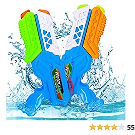Lucky Doug Water Gun for Kids Adults, 2 PCS Super Squirt Gun Water Blaster Summer Toy for Swimming Pool Party Outdoor Beach Sand Water Fighting