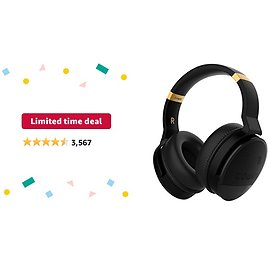 Limited-time Deal: COWIN E8 [Upgraded] Active Noise Cancelling Headphones Bluetooth Headphones with Microphone Deep Bass Wireless Headphones Over Ear, Great Audio for Travel/Work/TV/Computer/Cellphone, Black