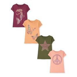 Girls Short Sleeve Trend Graphic Tee 4-Pack | The Children's Place