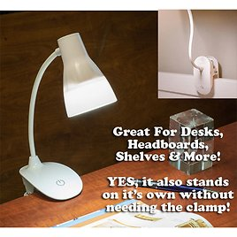 VERY SMART! Wireless (or Wired) Flexible 300 Lumen Clamping Rechargeable LED 3-Mode Touch Light - FANTASTIC for Tables, Headboards, Shelves, Grills and More! Keep Plugged in for Continuous Use or Take Advantage of The Rechargeable Battery and Use...