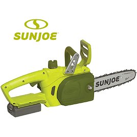 """Sun Joe ION 10"""" Cordless Chainsaw with 2Ah Battery + Charger"""