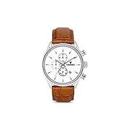 Fossil Men's The Minimalist Quartz Stainless Steel and Leather Casual Watch, Color: Black, Brown (Model: FS5305): Watches
