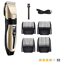 Hair Clippers, Professional Rechargeable Waterproof Hair Trimmer Set with 4 Length Hair Guide Combs for Men, Kids and Baby