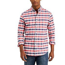 Men's Oxford Check Shirt, Created for Macy's
