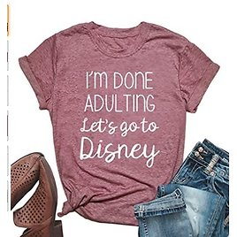HDLTE Women I'm Done Adulting T Shirt $11.39-$12.59