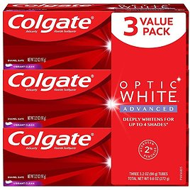 48% OFF! 3-Pack: Colgate Optic White Advanced Teeth Whitening Toothpaste