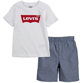 Levi's Boys Batwing T-Shirt & Pull-On Shorts, 2-Piece Set, Sizes 4-7 (3 Colors)