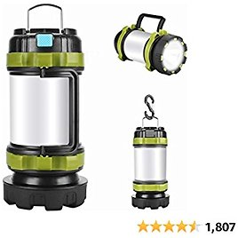Camping Lantern Rechargeable , Alpswolf Camping Flashlight 4000mAh Power Bank,6 Modes, IPX4 Waterproof, Led Lantern Camping, Hiking, Outdoor Recreations, USB Charging Cable Included