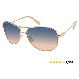 Jessica Simpson J106 Iconic UV Protective Metal Aviator Sunglasses | Wear All-Year | Glam Gifts for Women, 59 Mm