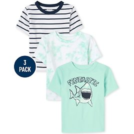 Baby And Toddler Boys Shark Top 3-Pack