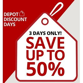 3 Days Only! Up to 60% Off Depot Discount Days