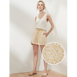 High Rise Drapey Paperbag Pull-On Short - 4 Inch Inseam | Banana Republic Factory