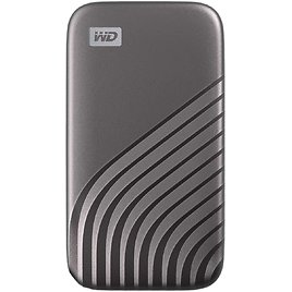 WD 500GB My Passport SSD External Portable Solid State Drive, Gray, USB 3.2 Gen-2 and USB-C Compatible (USB-A for Older Systems)