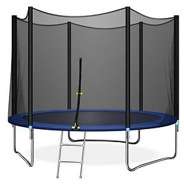 Triple Tree TRIPLE TREE 10 FT Trampoline with Safe Enclosure Net, 661 Lbs Capacity for 3-4 Kids, Outdoor Fitness Trampoline