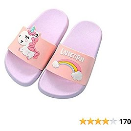 Kids Household Sandals Anti-Slip Indoor Outdoor Slippers for Girls and Boys,Summer Beach Water Shoes,Unicorn