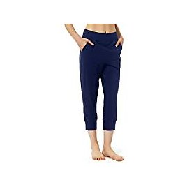Sportsnew Women Cotton Joggers Yoga Workout Sweatpants with Pockets Casual Lounge Pants: Clothing