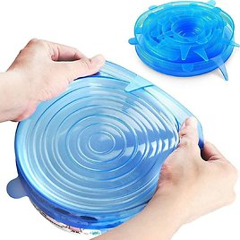 45% OFF! 18-Pack: Stretchable Silicon Blue Cover Lid