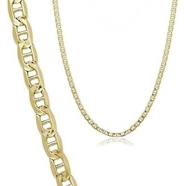 71% OFF! 14K Solid Yellow Gold Marina Chain