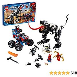 LEGO Marvel Spider-Man Venomosaurus Ambush 76151 Building Toy with Superhero Minifigures; Popular Holiday and Birthday Present for Kids Who Love Spider-Man Construction Toys, New 2020 (640 Pieces)
