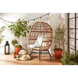 Bee & Willow™ Home Stationary Egg Chair in Brown