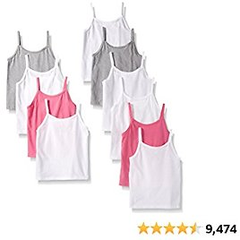 Hanes Girls' Tagless Cotton Cami Multipack