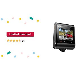 Limited-time Deal: Roav Dash Cam By Anker, Full HD 1080p Resolution, Sony Starvis Sensor, Built-in GPS, Wi-Fi, Nighthawk Vision, Wide-Angle Lens, Motion Detection, Parking Mode, SD Card NOT Includ