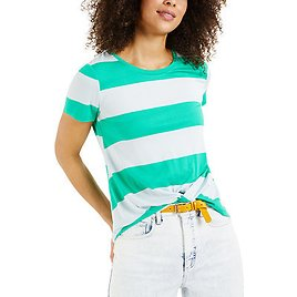 60% Off Striped Twist-Front Top
