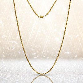 60% OFF! 14-Karat Solid Gold Diamond-Cut Rope Chain - Assorted Sizes