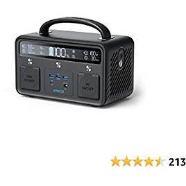 Anker Portable Power Station, PowerHouse II 400, 300W/388.8Wh, 110V AC Outlet/60W USB-C Power Delivery Solar Generator for Camping, Road Trips, Emergency Power, and More