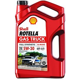 Shell Rotella Gas Truck Full Synthetic Engine Oil, 5W-30, 5 Qt.