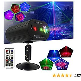 Party Stage Lights Sound Activated RGB Lights Projector $17.99+FS
