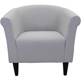 Liam 31.50'' Wide Tufted Polyester Barrel Chair