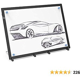 Get Extra 50% OFF A3 Light Box Drawing Pad LED Light Box with Stand and Magnets,Ruler Printed On,USB Powered,Higher Brightness